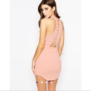 Ginger Fizz Cut Away Bodycon Dress with Racerback